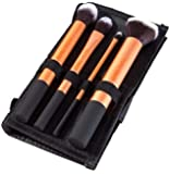 Puna Store Cosmetic Makeup Brush Set - 4 Piece Set with Storage Pouch