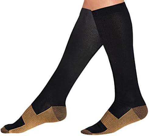 Compression Socks, 4PC Unisex Non-slip Stockings Are Best For Running Sports Medical Stockings Pressure Socks Football Socks lkoezi