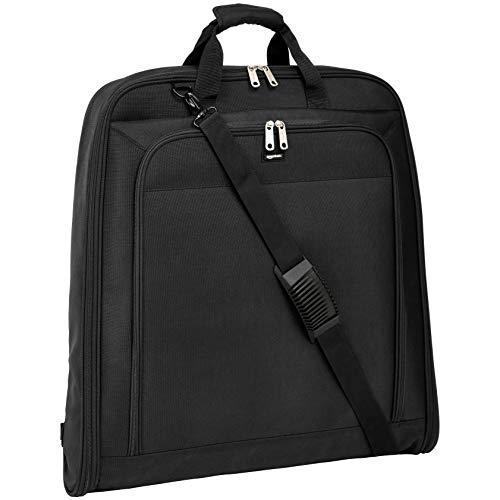 AmazonBasics Premium Travel Hanging Luggage Suit Garment Bag - 45 Inch, Black