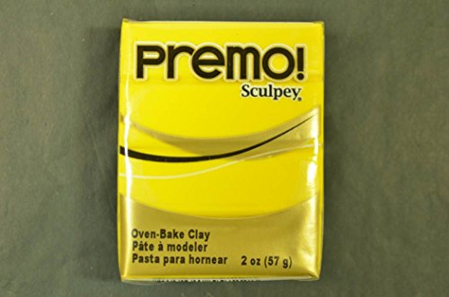 (Premo Sculpey Polymer Clay 2oz-Cadmium Yellow)