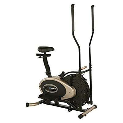 Exerpeutic Elliptical and Exercise Bike Dual Trainer