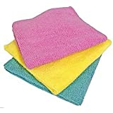 Norwex Antibacterial, Antimicrobial Microfiber Wash Cloths, Vibrant Set of 3 Body Pack