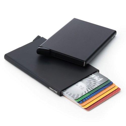 Reddot award winning card protector in black very slim for Porte 7th sea