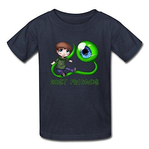 DASY Unisex O Neck Jacksepticeye Sam Best Friends Shirt Small Navy 6-16 Years Old