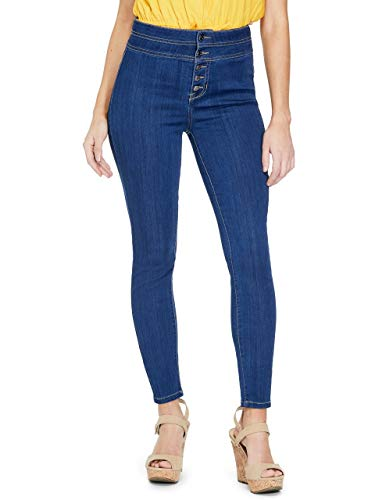 GUESS Factory Women's Shauna Button-Front Skinny -
