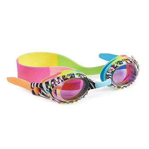 Bling2o Swimming Goggles For Girls - Zebra Crossing Kids Swim Goggles By (Zebra Black ()