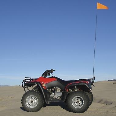 Safety Vehicle Flag With Black Fiberglass Pole - 7ft. pole (2-pc.) 10B BLACK