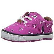 Ralph Lauren Layette Vaughn II Athletic Laces (Infant/Toddler), Regatta Pink Anchor, 3 M US Infant