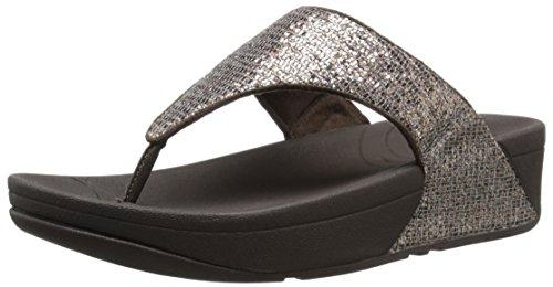 Fitflop Donna Lulu Superglitz Tessile Sandalo Bronzo