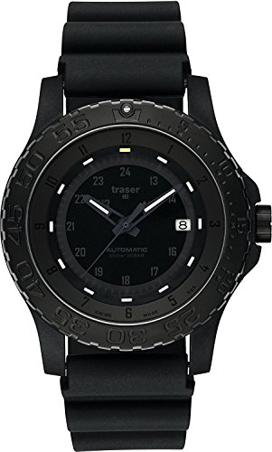 traser watch MIL-G AUTO PRO 9031565 Men's with ALL BLACK sort band