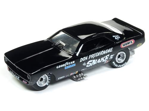 Racing Champions 1973 Plymouth Cuda Funny Car The Snake III Don Prudhomme Black Limited Edition to 3, 200Piece Worldwide 1/64 Die-Cast Model Car