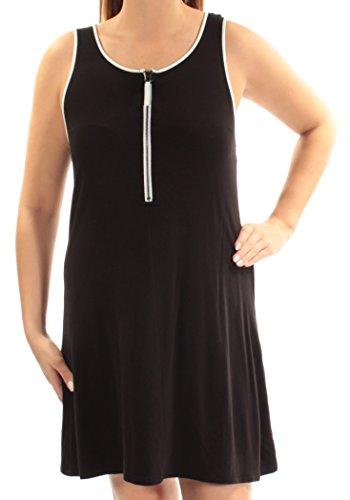 Sleeveless Zip 1523 Womens B kensie L Black Shift New 69 B Neck Dress 5t0txaXw