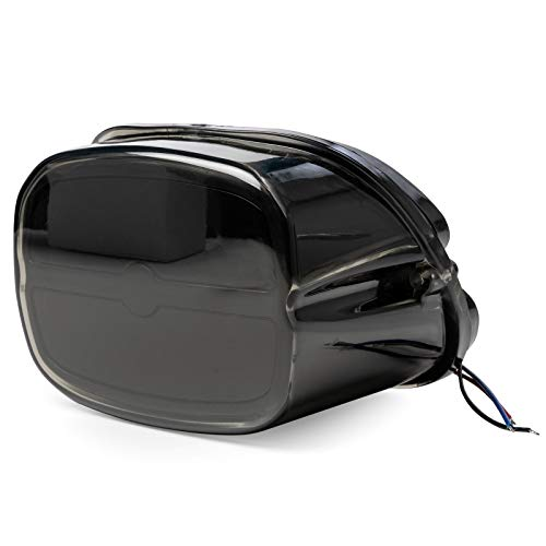(Bar Taillight w/Smoke Lens & Black Housing - Brake/Running/License Plate Light for Harley Davidson Softail Standard - FXSTI (2001-2006))