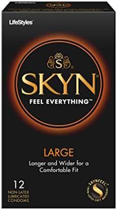 Lifestyles Skyn Polyisoprene Large Condoms, 12-count