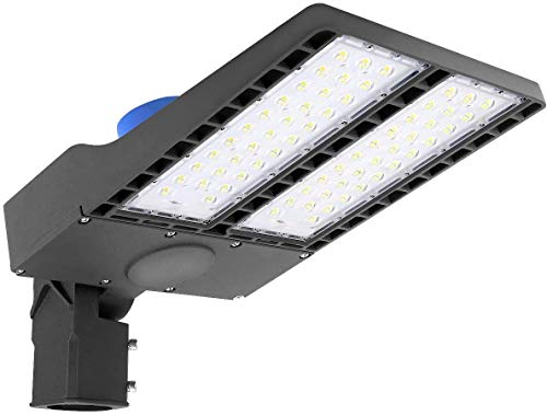LED Parking Lot Lighting 150W - Dusk to Dawn with Photocell, LED Shoebox Light for Outdoor Pole Mount, Commercial Street Area, Garage, Parking Area