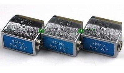 Gowe® 4MHz 8x9mm, 45º+60º+70º Angle Beam Probe Transducer-Ultrasonic Flaw Detector Meter Tester (Transducer Beam)