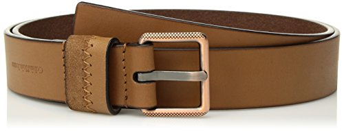 Calvin Klein Matte - Calvin Klein Women's 32mm Matte Leather Belt With Suede Seamed Loop, Whiskey With Copper, M