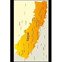 Map of Nepal Journal: 150 page lined notebook/diary