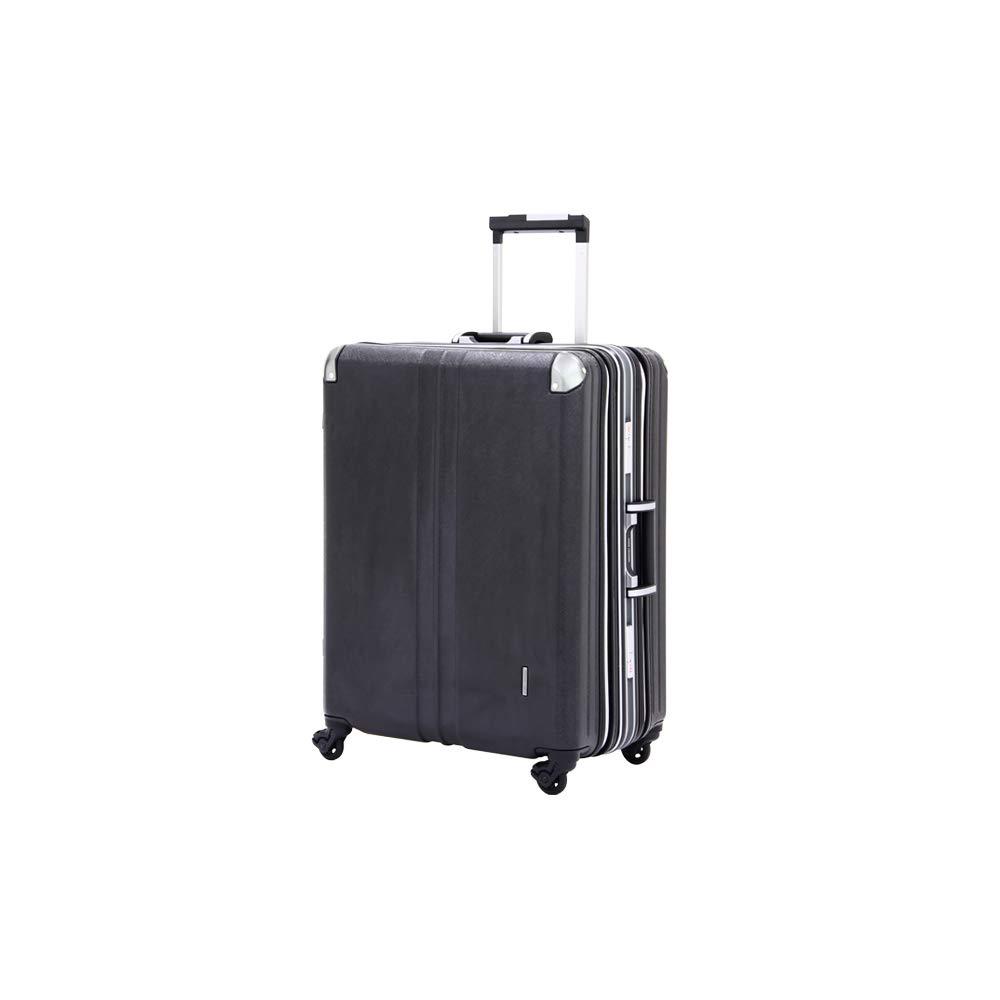 [アウトレット]スーツケース キャリーケース キャリーバッグ ビジネスキャリー ビジネスバッグ 旅行用品 M サイズ 中型 ダブル拡張機能搭載 B-3603-60 ブラック   B07PPDK6FB