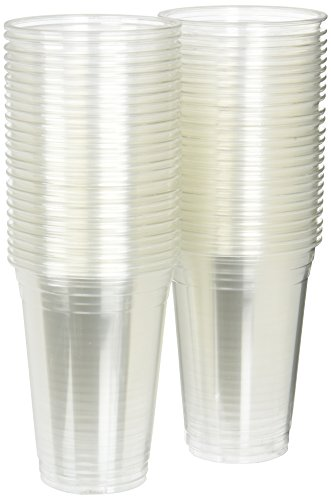 12 oz Plastic Clear Drink PET Cups, 50 Count
