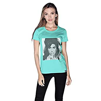 Creo Amy Winehouse T-Shirt For Women - M, Green