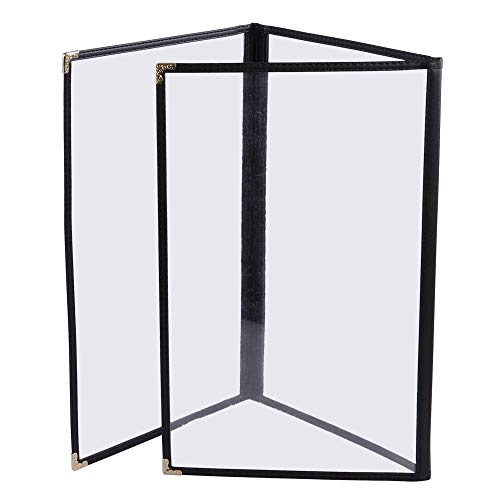 (30 PCS Vinyl Deluxe Triple Menu Cover Folders Set 3 Pages 6 View 8-1/2x11 Inch for Drink Selections Commercial Restaurant Cafe Hotel)