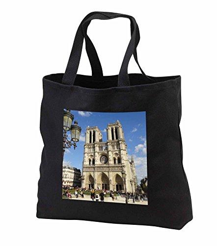 Price comparison product image 2 Travel - France - Notre Dame de Paris Cathedral - Tote Bags - Black Tote Bag 14w x 14h x 3d (tb_239226_1)