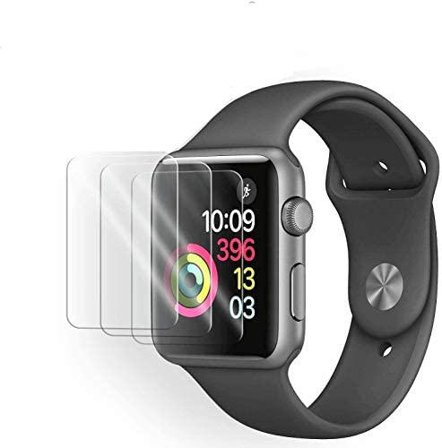 [3 Pack] Tempered Glass Screen Protector Compatible with Apple Watch Series 6 SE Series 5 Series 4 44mm, 3D Full Coverage Anti-Scratch Shatter-Proof HD Clear Waterproof Screen Protector Film