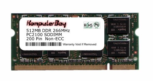 Komputerbay 512MB DDR SODIMM (200 pin) 266Mhz DDR266 PC2100 FOR VPR Matrix 175B4 512 MB (Pin Ddr266 Sodimm 200 Memory)