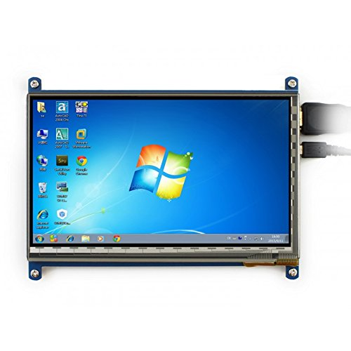 Capacitive Lcd (Waveshare 7inch HDMI LCD (C) Capacitive Touch Screen Display Supports Various Systems for All Ver. Raspberry pi 3 Model B/ 2B/B+/B/A BeagleBone Black Banana Pi/Pro Video Photo Kit)