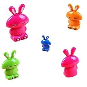 5000Mah Rabbit Power Bank Con Linterna Para El Teléfono Móvil (5V 1A) Naranja prodotto dalla gen¨¦rico