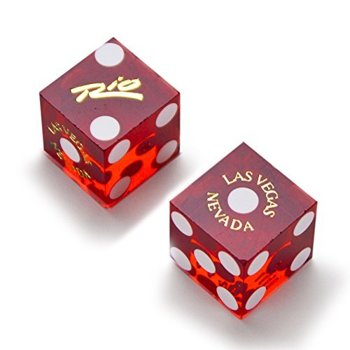 Brybelly Pair of Authentic Rio Casino Cancelled Craps Dice - Actually Used in Casino! ()