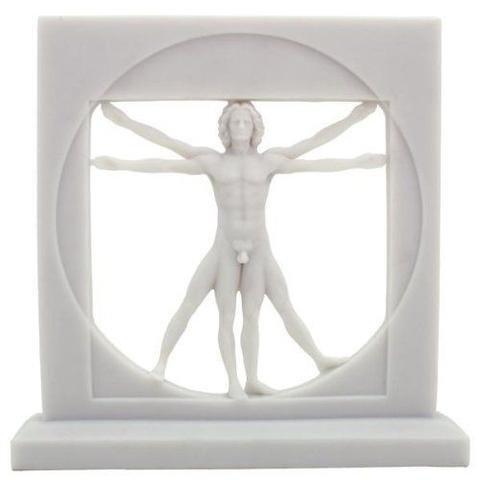 Vitruvian Man Statue By Leonardo Da Vinci Male Nude Figure