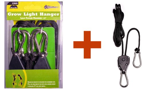 "Grow Light Hangers - 1/8"" Heavy Duty Triplet, THREE  Ratchet"