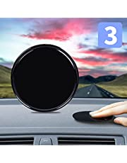 """Dashboard Pad Mounting Disk, 3 Pack AXD Magnetic Sticky Adhesive Pads for Suction Cup Phone Mount & Tom Tom Garmin Magellan GPS Suction Sat Nav Dash Camera Phone Holder Stick 3.15"""" (80mm)"""