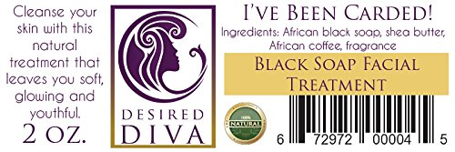 Desired Diva I've Been Carded! Black Soap Facial Wash