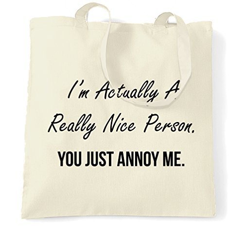 Me I'm Size A Person Bag Tote Just Natural One Annoy Novelty You Nice qHzBEw