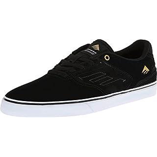 Emerica Men's the Reynolds Low Vulc Skate Shoe, black/white, 7 Medium US