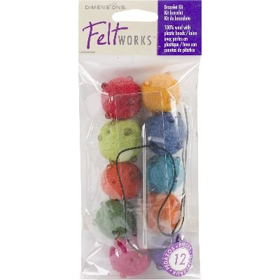 Dimensions Feltworks Bead Jewelry Kit, 10-Pack, Assorted Brights - Needle Felting Purse