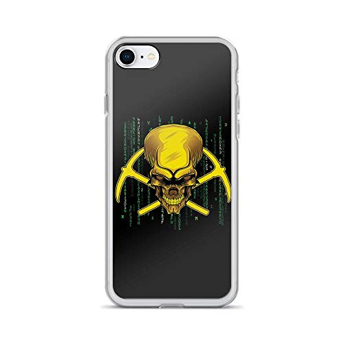 (iPhone 7/8 Pure Clear Case Cases Cover Coal Mining Mineral Generate Eletricity Skull Emblem)