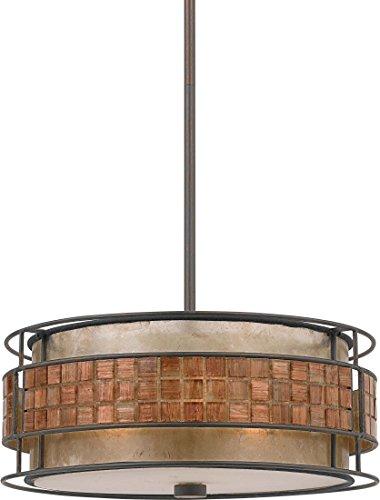Quoizel MC842CRC Laguna Mica Drum Pendant Lighting, 3-Light, 180 Watts, Renaissance Copper (7