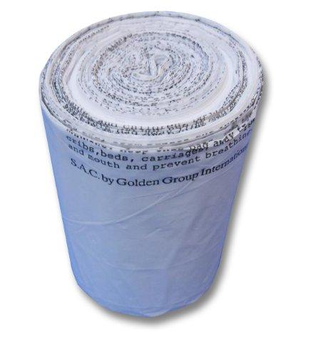 "S.A.C TD9022-06 Plastic Sanitary Napkin Disposal Medium Bin Liner, 16"" Length x 16"" Width x 0.7 mil Thick, White (Case of 6)"