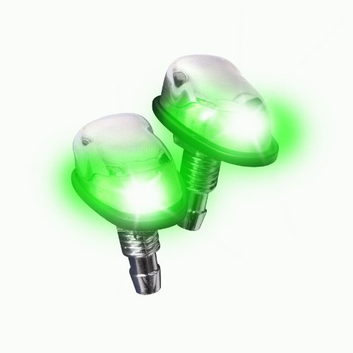 Streetglow OPWCHGR OPTX Green LED Chrome Washer Nozzle Pair product image
