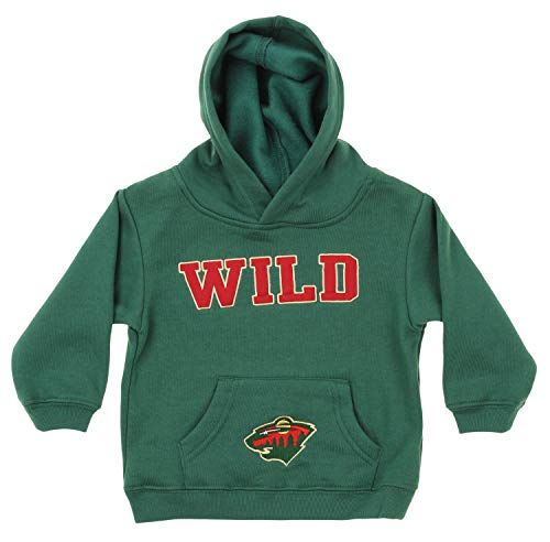 Outerstuff NHL Infant and Toddler's Fleece Hoodie, Minnesota Wild 2T