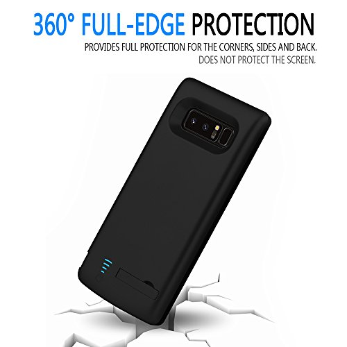 big sale db8c8 8d340 RUNSY Samsung Galaxy Note 8 Battery Case, 6500mAh Rechargeable Extended  Battery Charging Case, External Battery Charger Case, Backup Power Bank  Case ...
