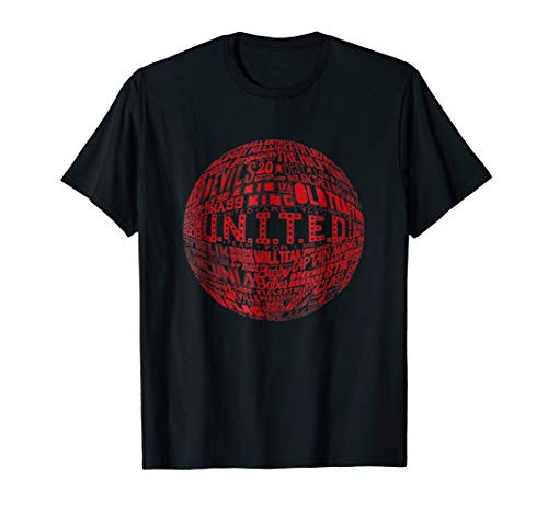 - Manchester United - Red Typography Print t-shirt