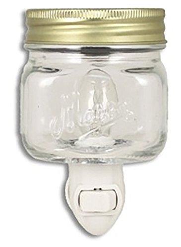 Mason Jar Plug In Fragrance Wax Warmer or Night Light Clear by Tuscany ()