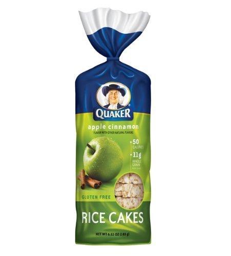 Quaker Rice Cakes Apple Cinnamon 6.53 Oz - 6 Unit Pack by Quaker