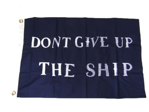 Moon 2x3 Embroidered Commodore Perry Ship #2 Sewn 100% Cotton Flag 2x3 2 Clips - Vivid Color and UV Fade Resistant - Prime Outside Garden Home Decor