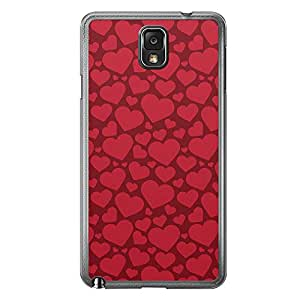 Loud Universe Samsung Galaxy Note 3 Love Valentine Printing Files A Valentine 68 Printed Transparent Edge Case - Red